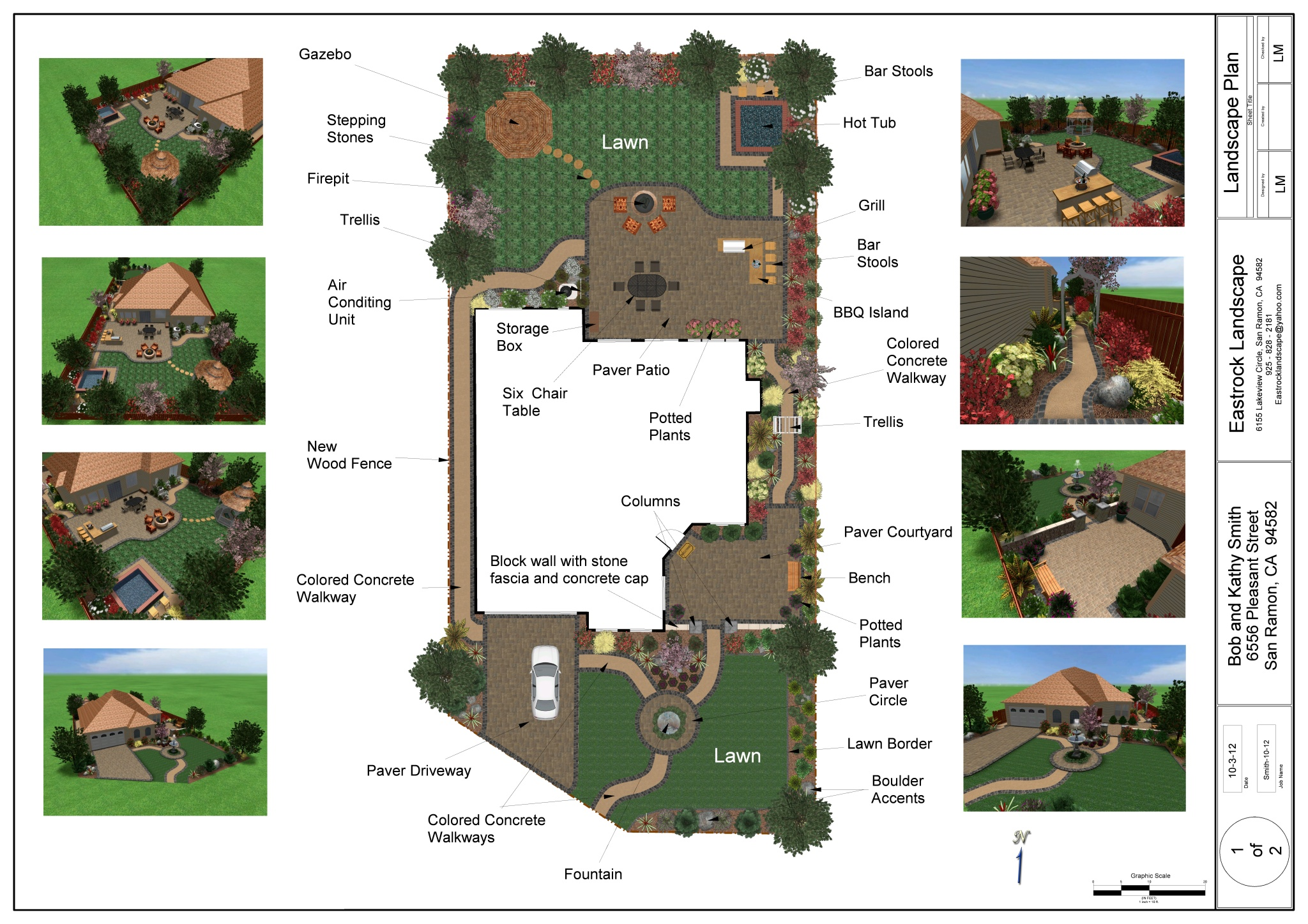 Landscape design pricing for Basic landscape plan